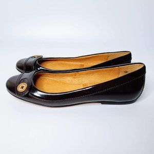 Ted Baker Patent Leather Flats Dark Purple - 6